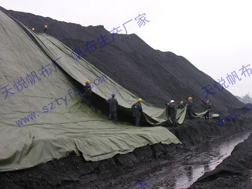 Industrial power plant coal mine waterproof tarpaulin